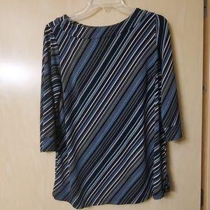 Liz Lange Stretchy Multi-Color Striped Tunic - S
